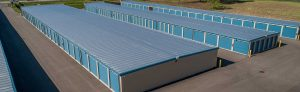 blue outdoor drive up storage facility
